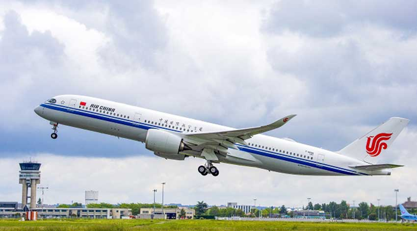 Air China recibirá su primer A-350-900 en julio del 2019