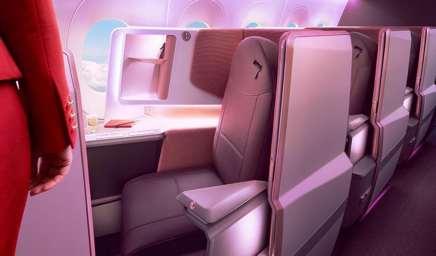 """La opción """"Upper Class Suite"""" es lo último que Virgin Atlantic ofrecerá a sus clientes en la nueva aeronave A-350-1000"""