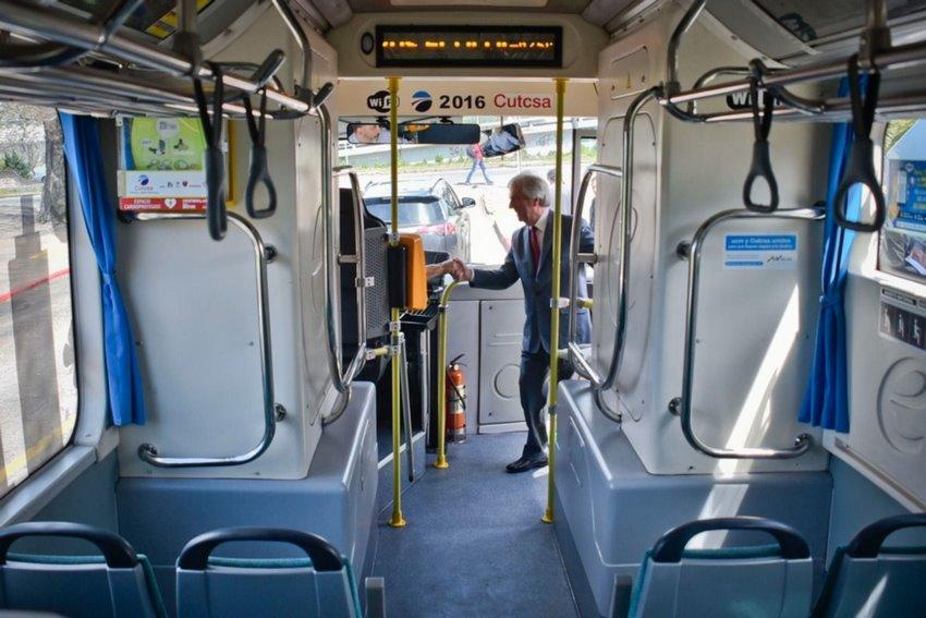 Interior de un Ómnibus eléctricos