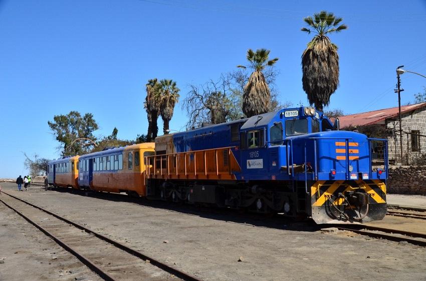 El tren Arica-Poconchile, iniciativa del Ferrocarril Arica-La Paz (FCALP)