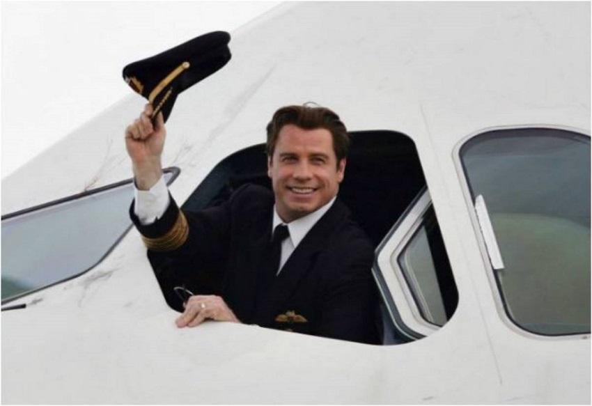 John Travolta en su jets privado