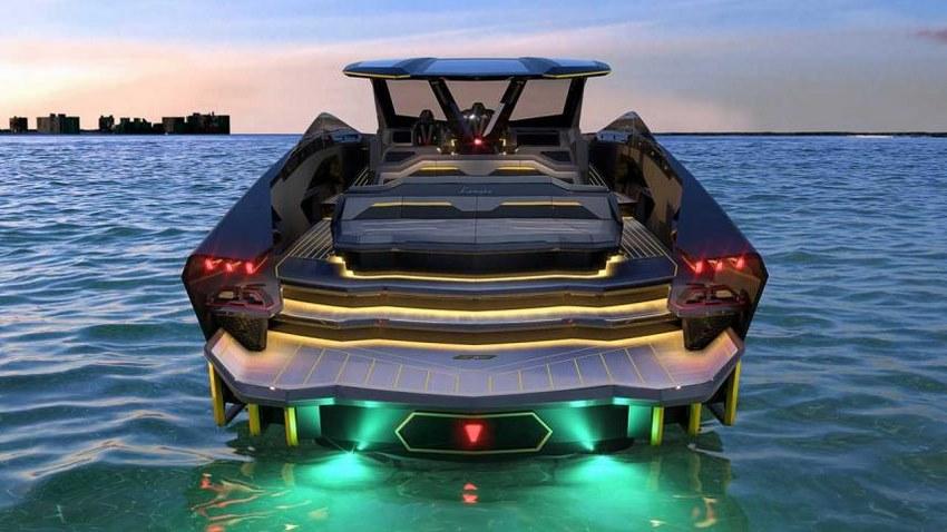Lamborghini 63 Concepto vista trasera