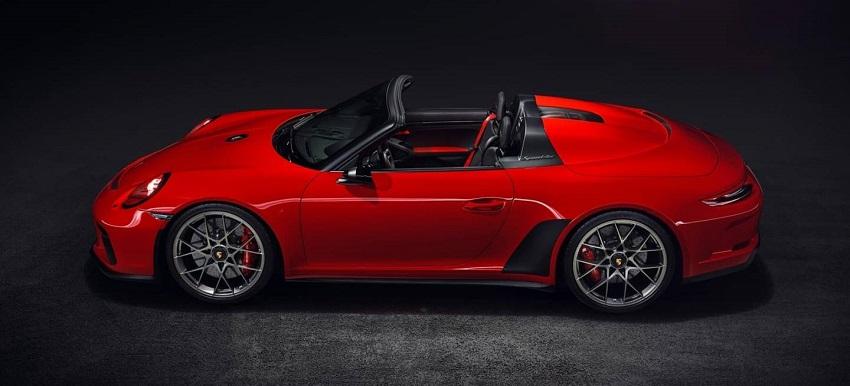 Porsche 911 Speedster Concept II Rojo vista lateral