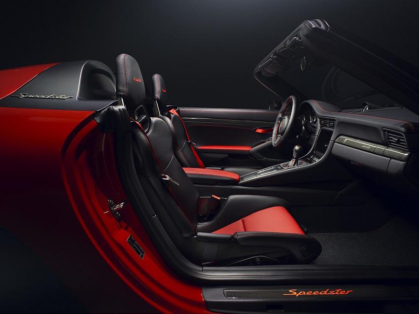 Interior del Porsche 911 Speedster Concept II