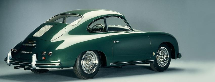 Porsche 356 azul parte trasera