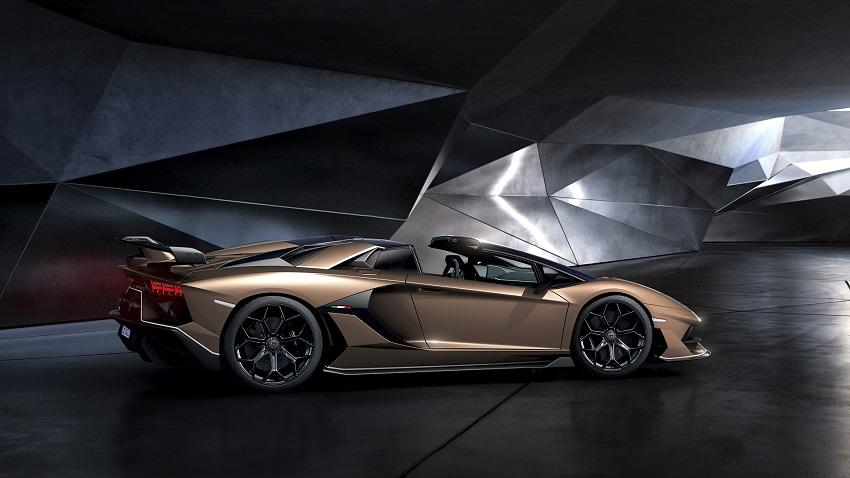 Lamborghini Aventador SVJ Roadster vista lateral
