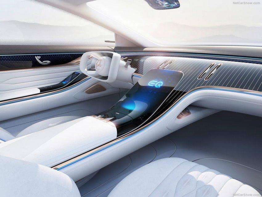 Interior del Mercedes-Benz Vision EQS