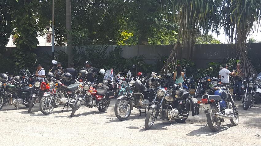 Motocicletas de los motoristas de LAMA