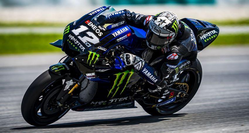 Maverick con su Yamaha en MotoGP 2019