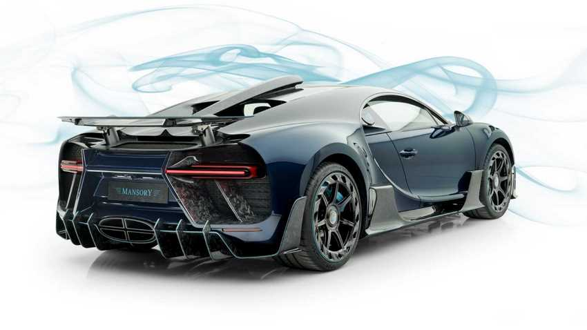 Bugatti Chiron Mansory Centuria parte trasera