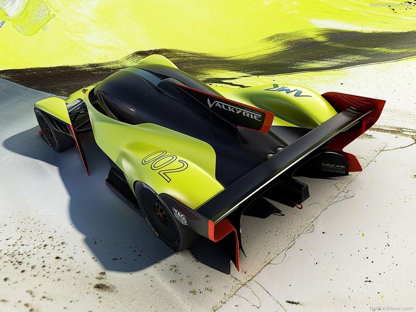 Aston Martin Valkyrie AMR Pro, parte trasera del auto