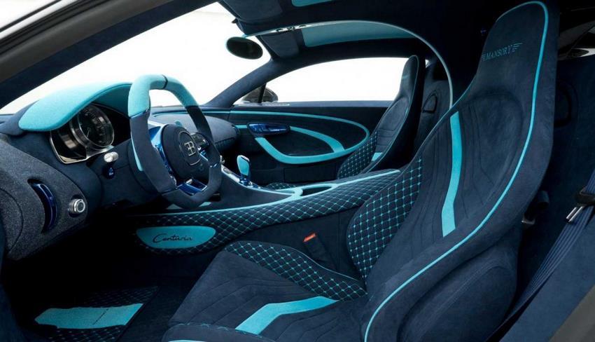 Interior del Bugatti Chiron Mansory Centuria