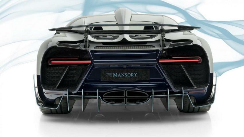 Parte trasera Bugatti Chiron Mansory Centuria
