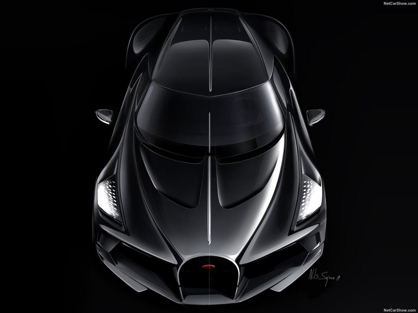 Bugatti La Voiture Noire vista aérea