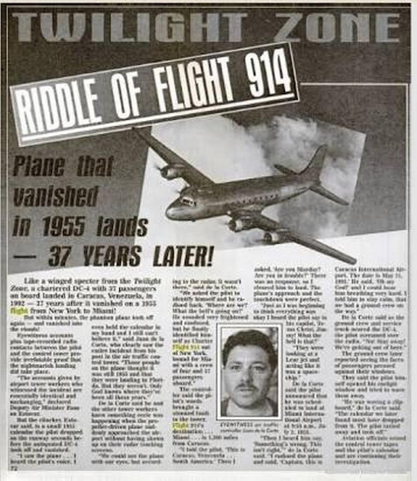 Resultado de imagen de el avion que aterrizo 37 años despues
