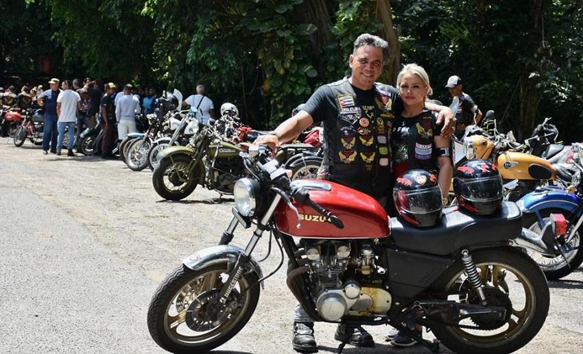 Motociclista de LAMA