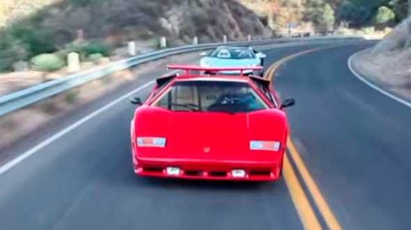 Video Lamborghini Countach Vs Aventador Roadster Excelencias Del